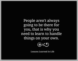 People aren't always 