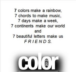 7 colors make a rainbow, 