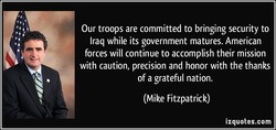 Our troops are committed to bringing security to 