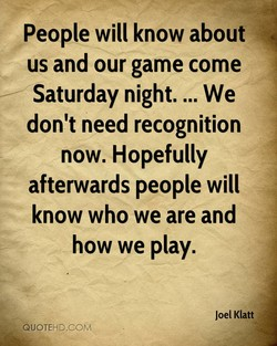 People will know about 