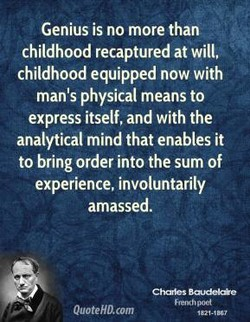 Genius is no more than 