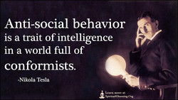 Anti-social behavior 