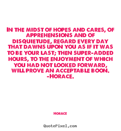 IN THE MIDST OF HOPES AND CARES, OF 