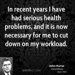 In recent years I have 