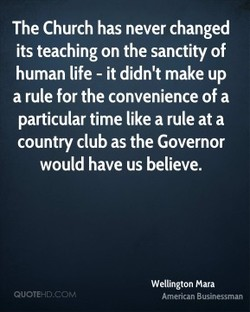 The Church has never changed 