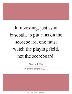 In investing, just as in 