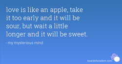 love is like an apple, take 