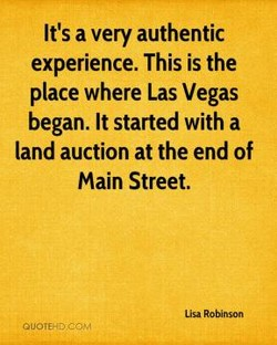 It's a very authentic 