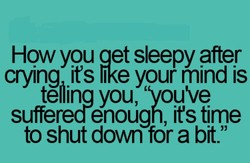 How you aet sleepy after 