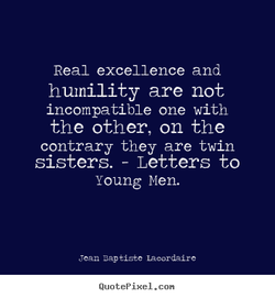 Real excellence and 