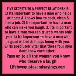 FIVE SECRETS TO A PERFECT RELATIONSHIP: 