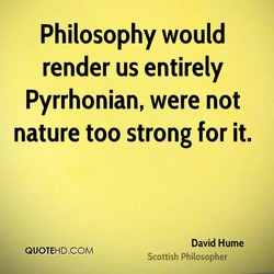 Philosophy would 