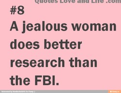 A jealous woman 