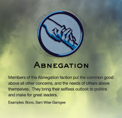 ABNEGATION Of Abnegatkn faction put tt•æ abyve WI Othe concerns. and the enve They &ing thei outtc* and make leaders. EmlV•es