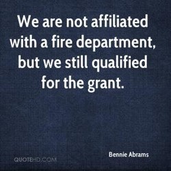 We are not affiliated 