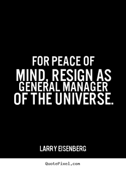 FOR PEACE OF 
