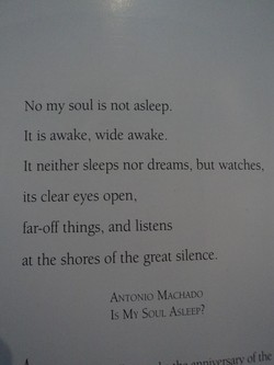 No my soul is not asleep. 