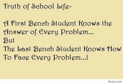 Truth of School Life- 