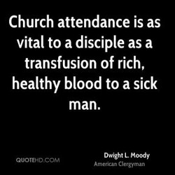 Church attendance is as 