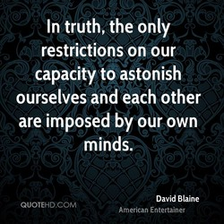 In truth, the only 