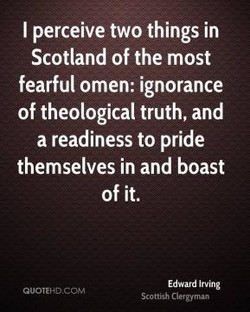 I perceive two things in 