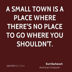 A SMALL TOWN A 