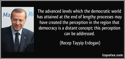 The advanced levels which the democratic world 