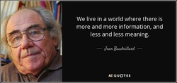 We live in a world where there is 