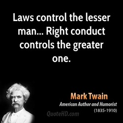 Laws control the lesser 