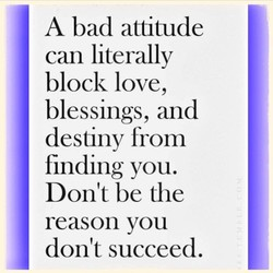 A bad attitude 