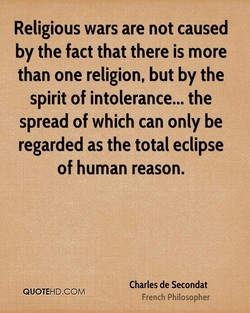 Religious wars are not caused 