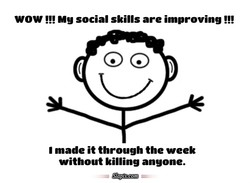 WOW Mg social skills are improving 
