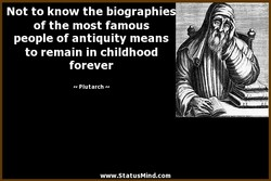 Not to know the biographie 