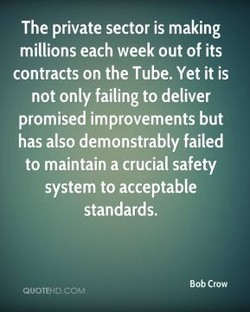 The private sector is making 