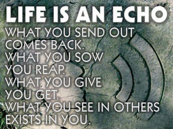 LIFE IS/AN ECHO} 