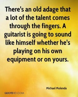 There's an old adage that 