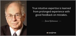True intuitive expertise is learned 