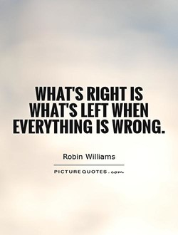 WHAT'S RIGHT IS 