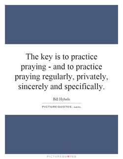 The key is to practice 