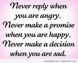 Tever reply when 