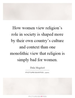 How women view religion's 