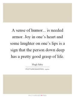 A sense of humor... is needed 