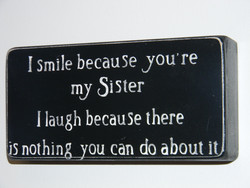 I smile because you're 
