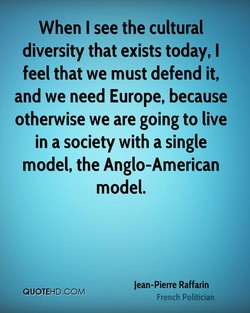 When I see the cultural 