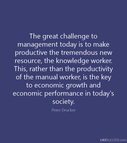 The great challenge to 
