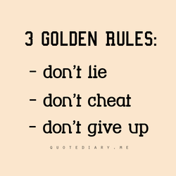 3 GOLDEN HULES: 