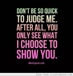 DON'T BE SO QUICK 