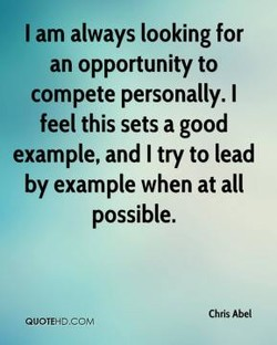 I am always looking for 