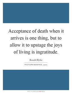Acceptance of death when it 