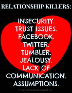 RELATIONSHIP KILLERS: 